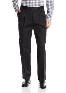 Dockers Men's Refined No Wrinkles Khaki Classic Pleat Pant Black  - discontinued
