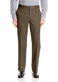 Dockers Men's Refined No Wrinkles Khaki Straight Flat Front Pant Branch - discontinued