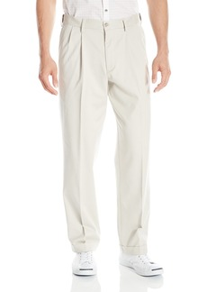 Dockers Men's Relaxed Fit Comfort Khaki Cuffed Pants-Pleated D4