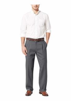 Dockers Men's Relaxed Fit Easy Khaki Pants-Pleated Burma Grey -Grey 40Wx32L