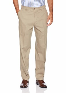 Dockers Men's Relaxed Fit Signature Khaki Lux Cotton Stretch Pants timber wolf