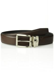 Dockers Men's Reversible Casual Belt with Comfort Stretch-brown/black