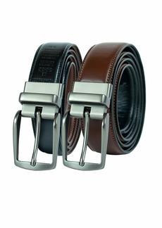 Dockers Men's Reversible Casual Dress Belt With Comfort StretchCognac/black