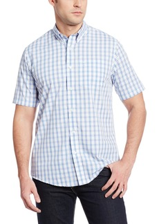 Dockers Men's Short Sleeve Blue and Pink Check Shirt  Pink
