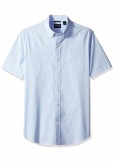 Dockers Men's Short Sleeve Button-Down Comfort Flex Shirt Bearing sea