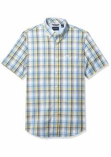 Dockers Men's Short Sleeve Button Down Comfort Flex Shirt  L