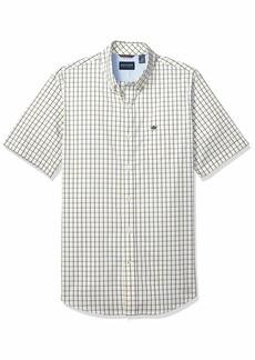 Dockers Men's Short Sleeve Button-Down Comfort Flex Shirt Maier Mimosa-Plaid