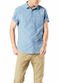 Dockers Men's Short Sleeve Button-Down Supreme Flex Shirt coastal light Blue L