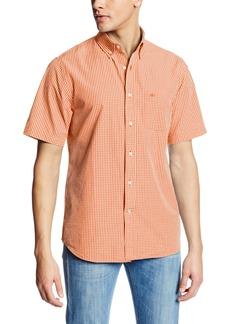 Dockers Men's Short Sleeve Calendarized Cotton Poplin Mini Check Shirt