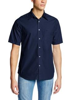 Dockers Men's Short Sleeve Calendarized Cotton Poplin Solid Shirt