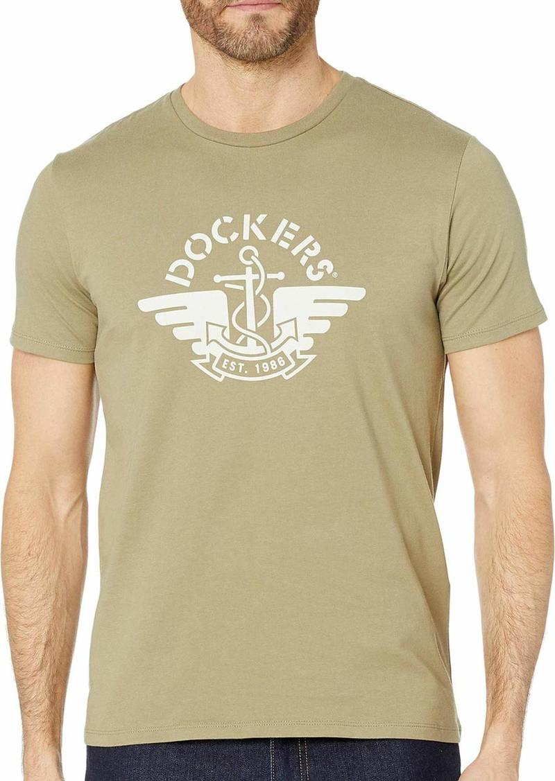 Dockers Men's Short Sleeve Logo Tee