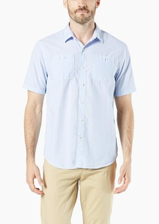 Dockers Men's Short Sleeve Performance Seersucker Shirt Sargent