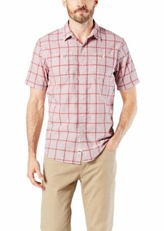 Dockers Men's Short Sleeve Performance Seersucker Shirt Wilburn