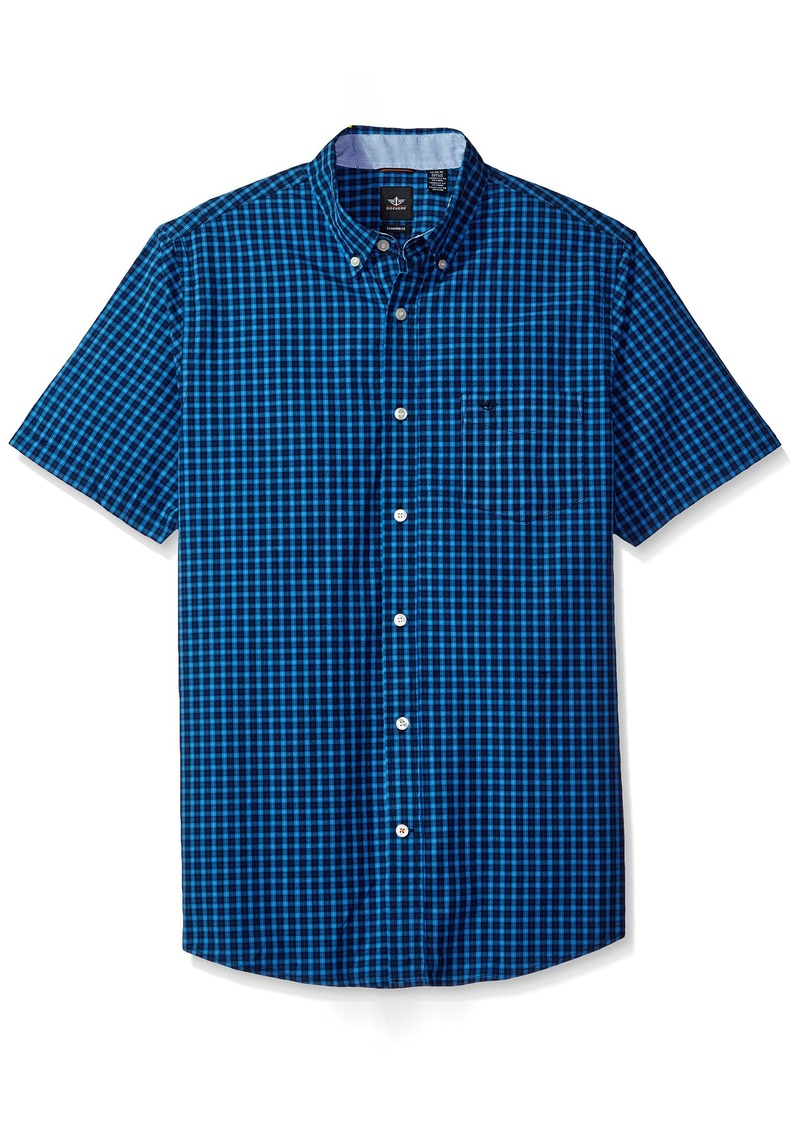 16907f75129 Men s Beached Poplin Short Sleeve Button-Front Shirt Cermaic Blue. Dockers.   27.00. from Amazon Fashion