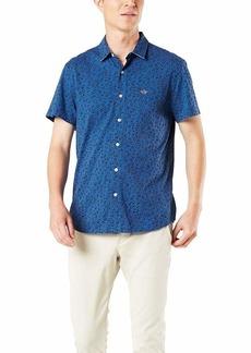 Dockers Men's Short Sleeve Slim 360 Flex Button Up Shirt  XL