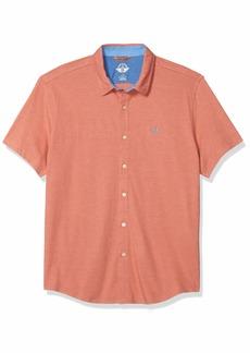 Dockers Men's Short Sleeve Smart 360 Ultimate Button Up Flex Shirt  L