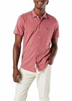 Dockers Men's Short Sleeve Smart 360 Ultimate Button Up Flex Shirt RENAISSANCE ROSE XL