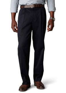 Dockers Men's Signature Khaki Big and Tall Pleated Pant Navy - discontinued