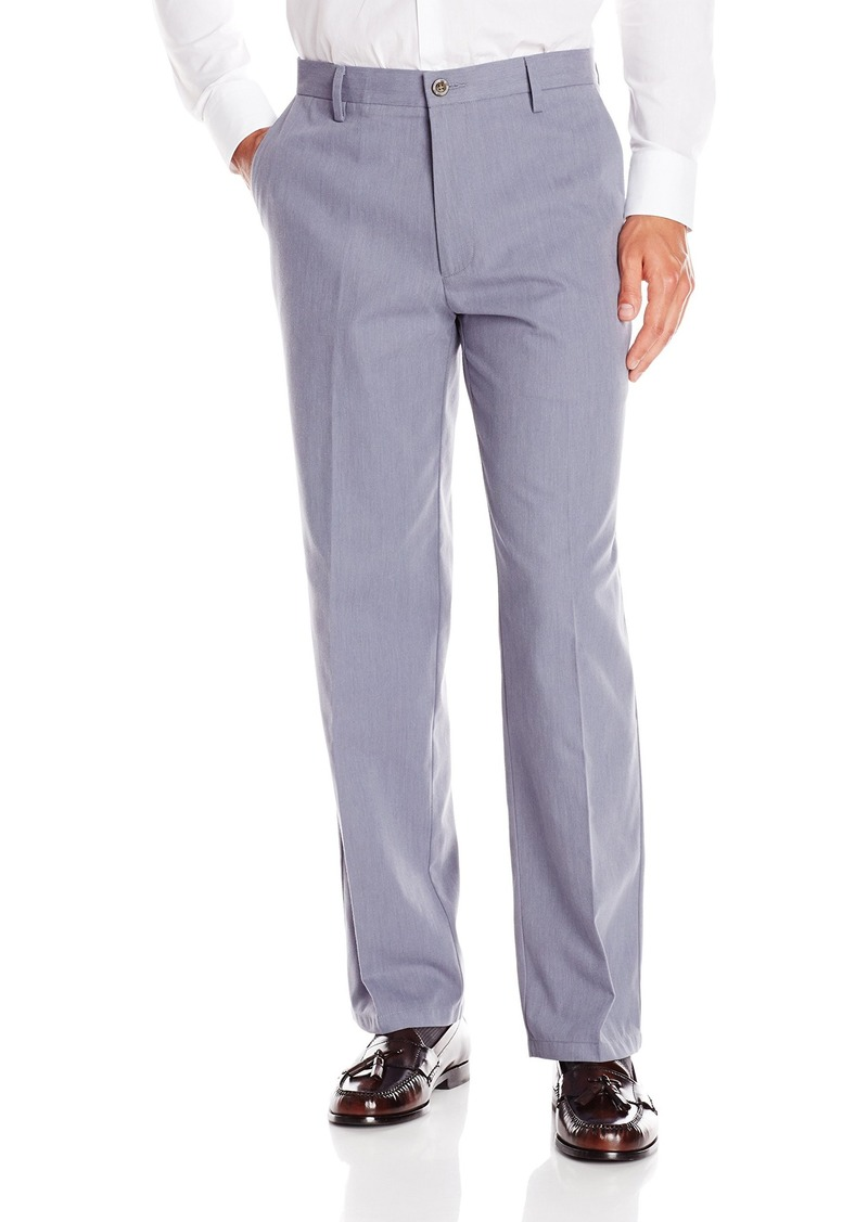 Dockers Men's Signature Khaki Flyweight Classic Fit Flat Front Pant Sapolu Oxford Navy Smoke - discontinued