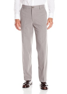Dockers Men's Signature Khaki Flyweight Straight Fit Flat Front Pant Sapolu Oxford Burma Grey - discontinued