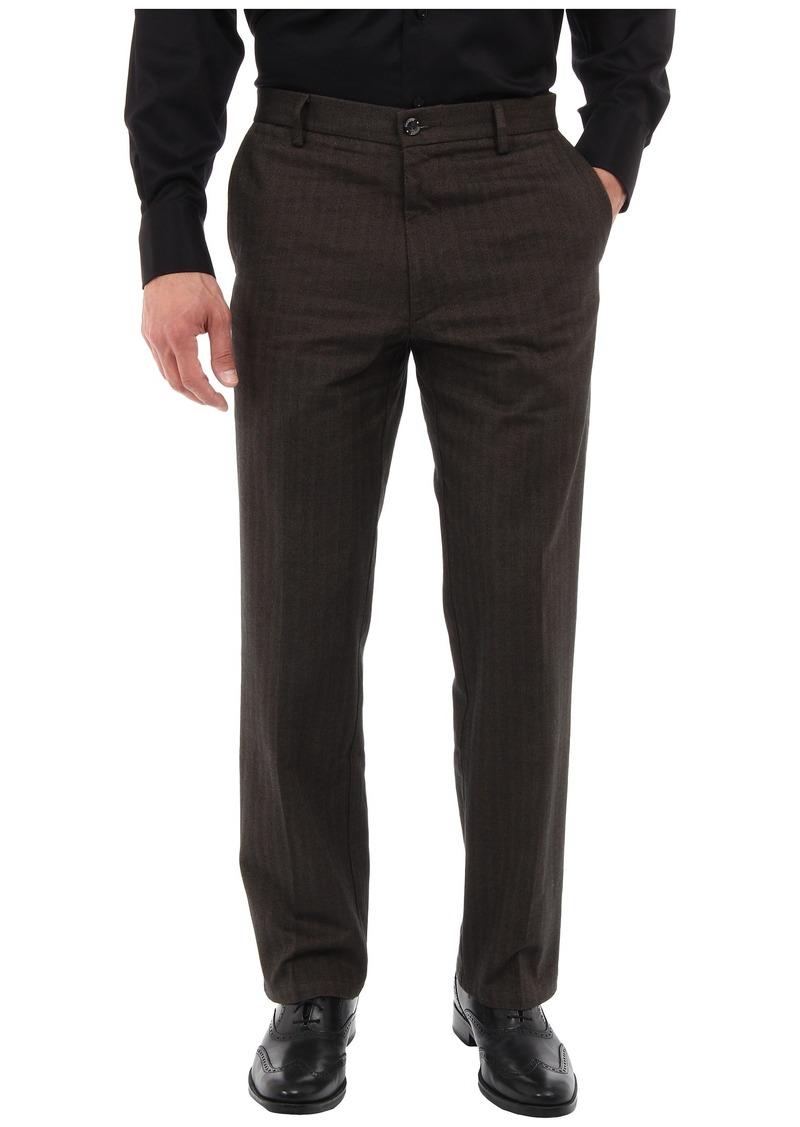 Dockers Men's Signature Khaki Straight D2 Fit Flat Textured Yarn Dye