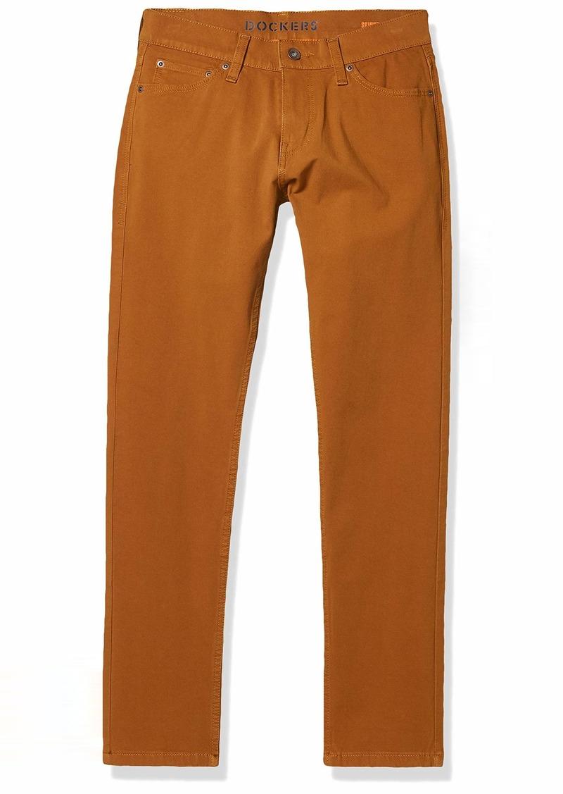 Dockers Men's Skinny Fit Smart 360 Flex Jean Cut Pants dark ginger