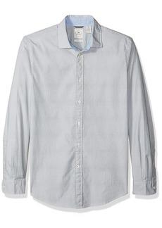 Dockers Men's Slim Refined Poplin Long Sleeve Button Front Woven Shirt