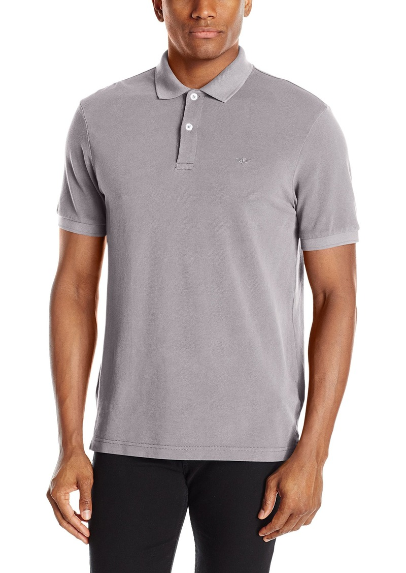 Dockers Men's Soda-Wash Pique Polo Shirt
