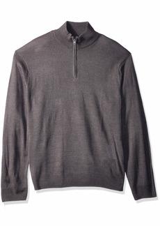 Dockers Men's Soft Acrylic Quarter Zip Sweater foil Marl