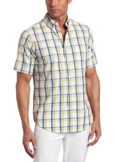 Dockers Men's Soft No Wrinkle Short Sleeve Shirt Mizzen-Cornsilk