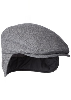Dockers Men's Solid Melton Hat with Fold-Down Ear Flaps  32(S/M)