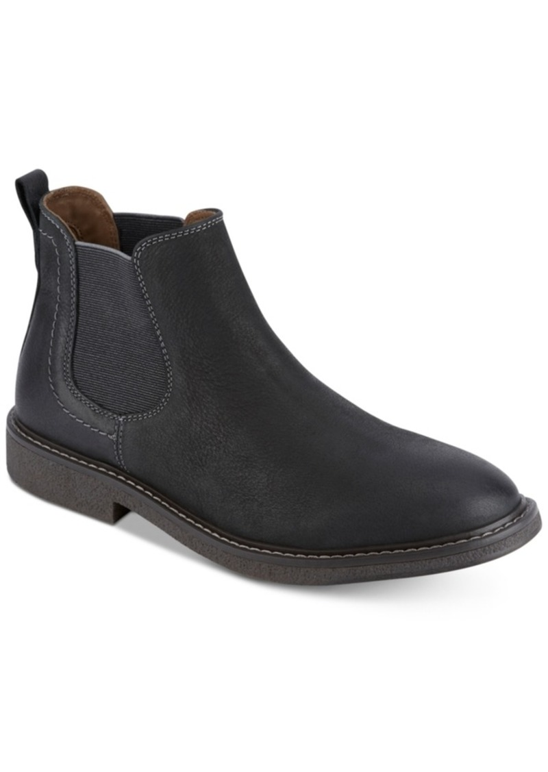 Dockers Men's Stanwell Leather Slip-On Chelsea Boots Men's Shoes