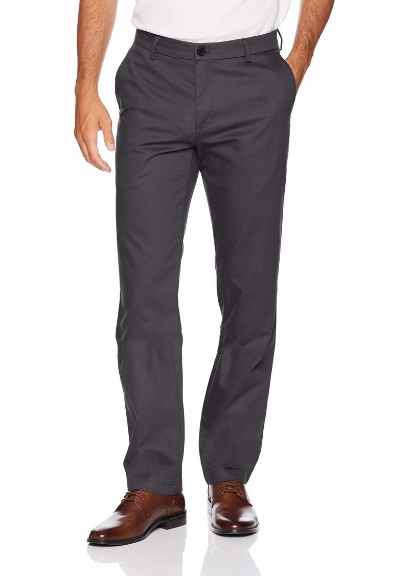 Dockers Men's Straight Fit Signature Khaki Pant D2 Navy-Creased