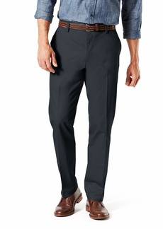 Dockers Men's Straight Fit Signature Lux Cotton Stretch Khaki Pant Charcoal Heather - creased