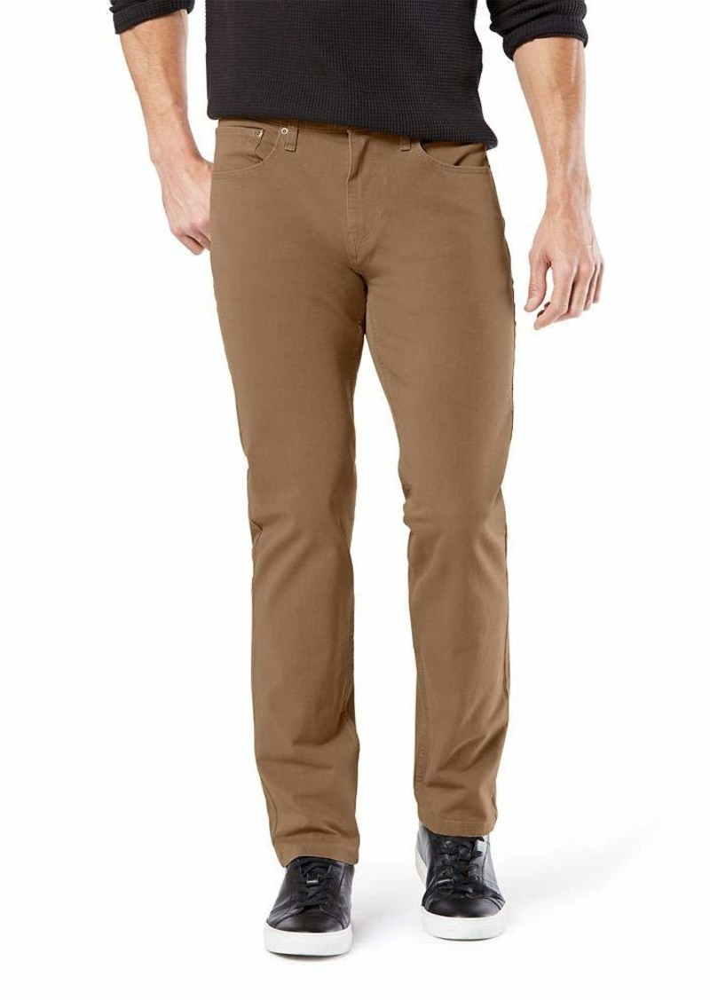 Dockers Men's Straight Fit Ultimate Jean Cut Pants Leather
