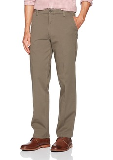Dockers Men's Straight Fit Workday Khaki Pants with Smart 360 Flex Dark Pebble (Stretch)