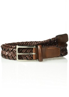 Dockers Men's Stretch Braid Belt-cognac