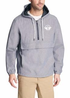 Dockers Men's The Tyler Lightweight Hooded Popover Jacket