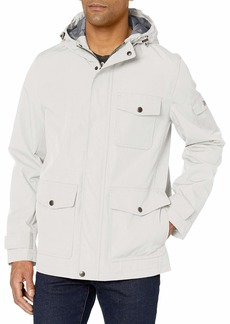 Dockers Men's Thorn Trail Cloth Waterproof Rain Slicker Jacket ice