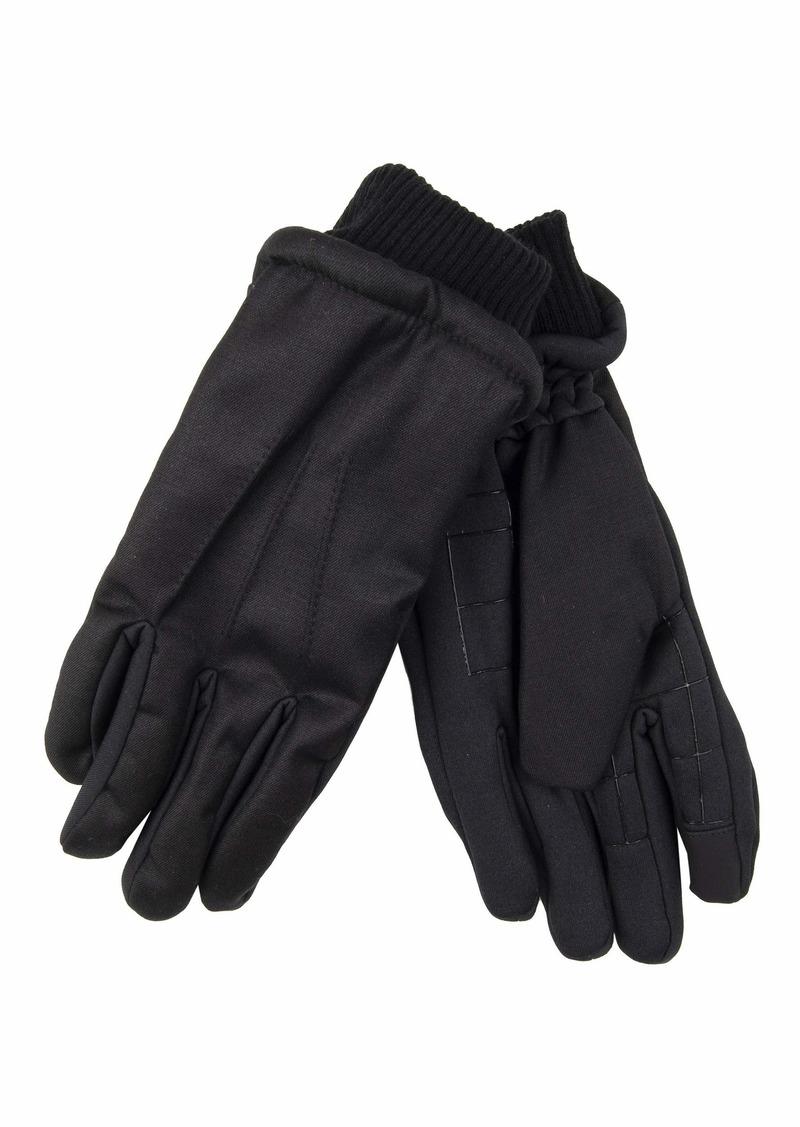 Dockers Men's Warm Winter Gloves Black quilted