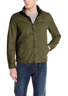 Dockers Men's Washed Cotton Stand Collar Zip Front Jacket
