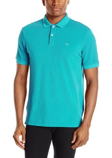 Dockers Men's Washed Pique Polo Short Sleeve With Embroidered Logo