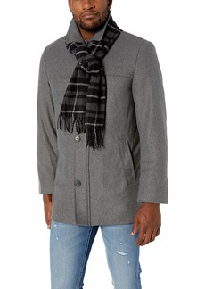 Dockers Men's Weston Wool Blend Car Coat with Scarf (Standard & Big-Tall Sizes)