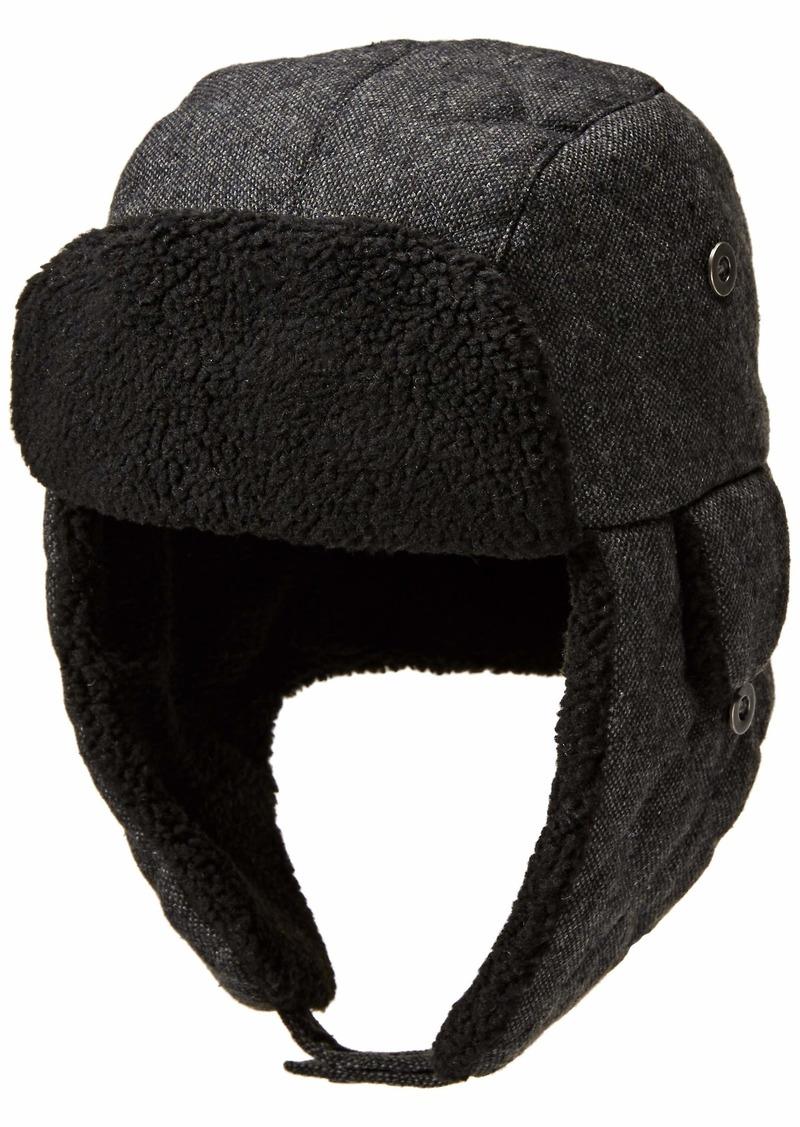 Men/'s Dockers Faux-Fur Trapper Hat S//M Charcoal