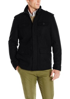 Dockers Men's Wool 4 Pocket Military Jacket