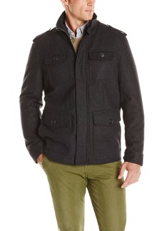 Dockers Men's Wool 4 Pocket Military Jacket