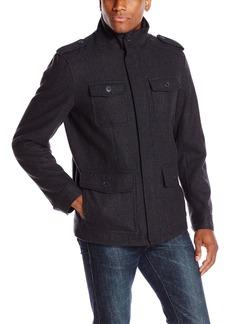 Dockers Men's Wool Melton Four Pocket Military Field Jacket