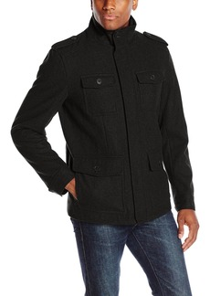 Dockers Men's Wool Melton Four Pocket Military Field Jacket