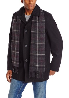 Dockers Men's Wool Melton Walking Coat with Detachable Scarf