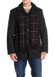 Dockers Men's Wool Melton Walking Coat with Scarf